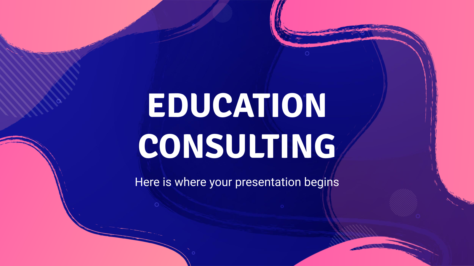 Education Consulting presentation template