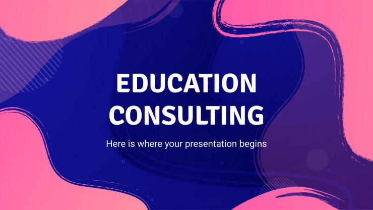 Plantilla de presentación Consultoría educativa