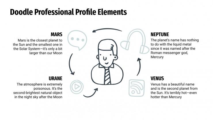 Doodle Professional Profile Elements presentation template