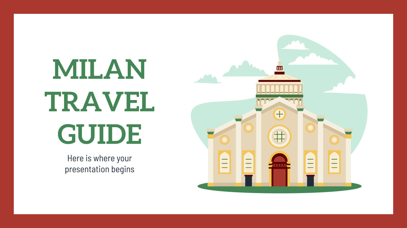 Travel Guide: Milan presentation template