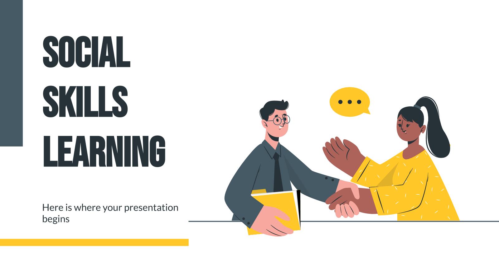 Plantilla de presentación Aprendizaje de habilidades sociales