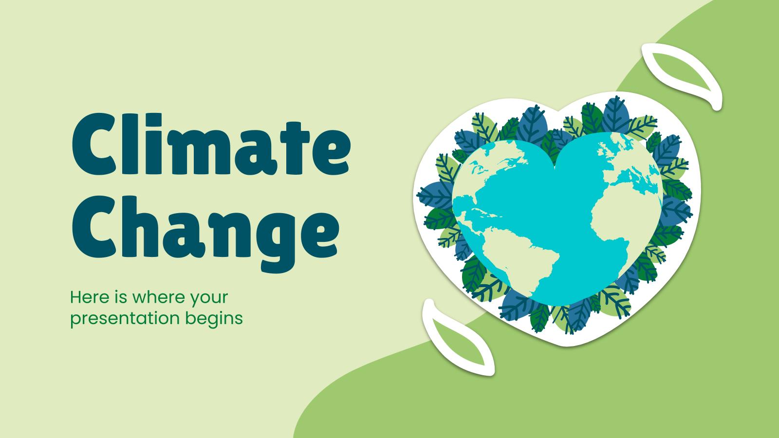 Plantilla de presentación Cambio climático