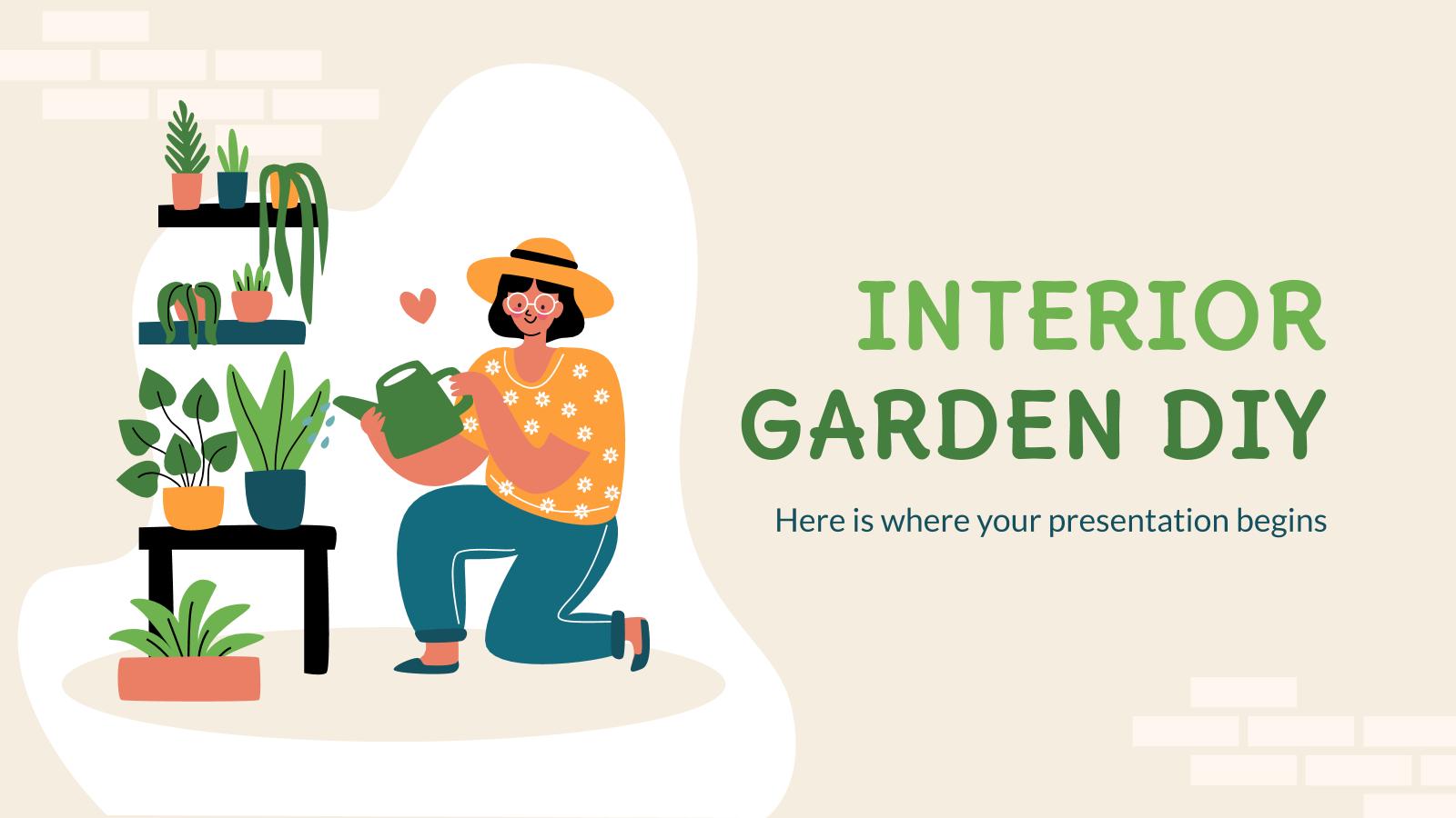 Plantilla de presentación Taller de jardinería de interior