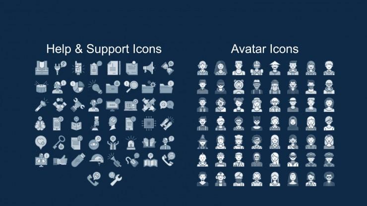 Custom Avatar App presentation template
