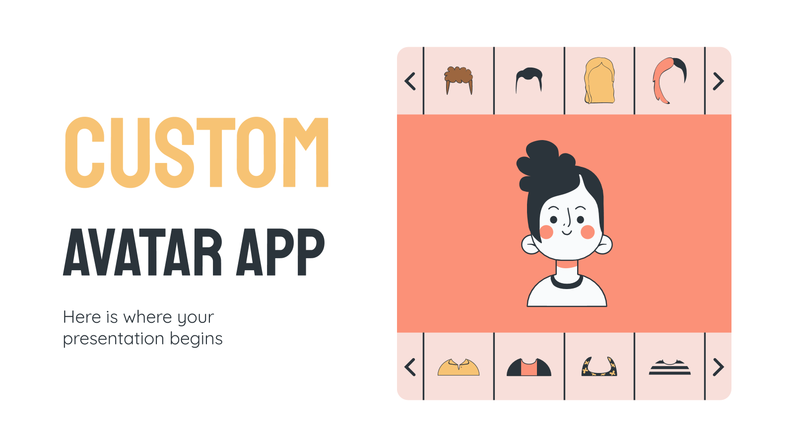 Custom Avatar App presentation template
