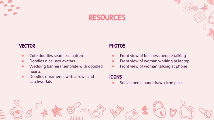 CV de doodles mignon : Modèles de présentation