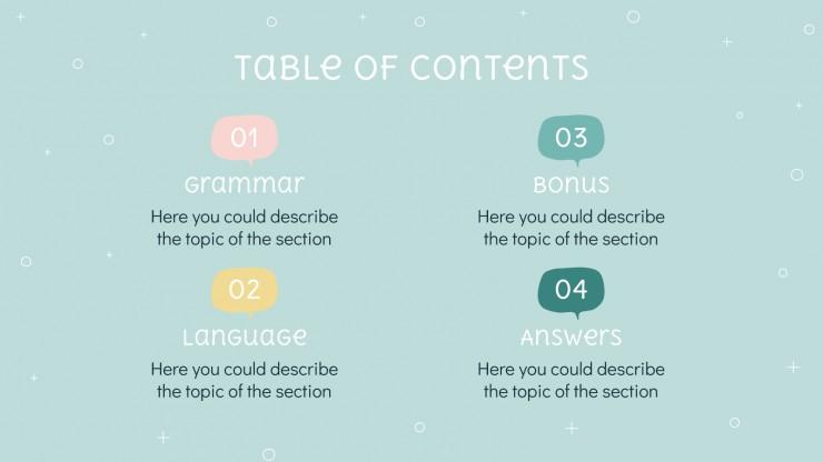 Modelo de apresentação Aprenda idiomas sorrindo