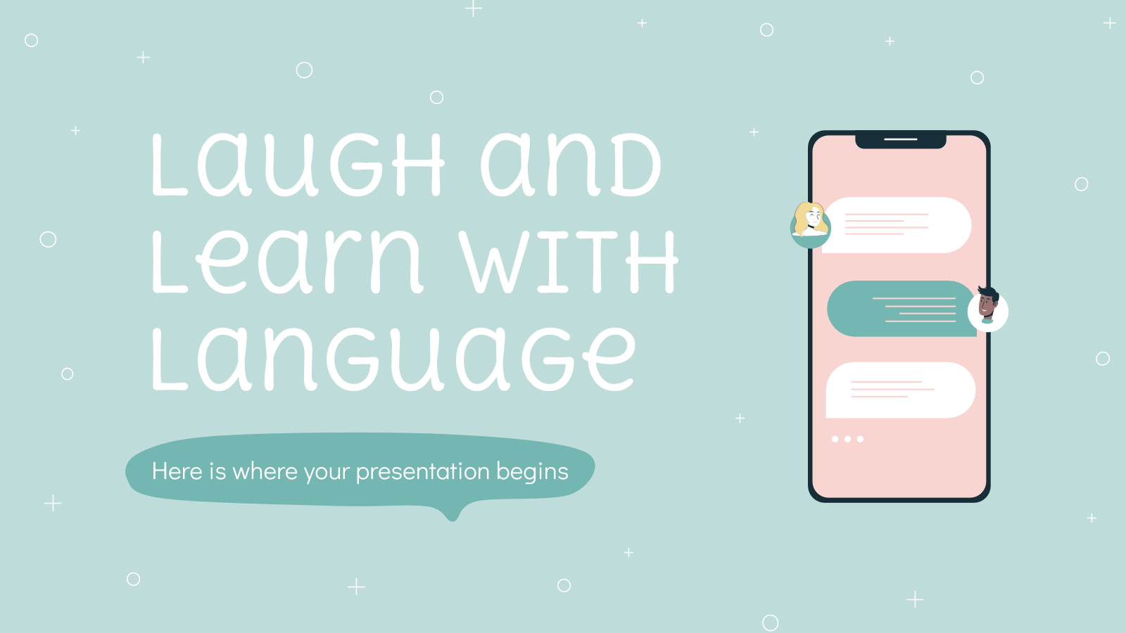 Laugh and Learn with Language presentation template