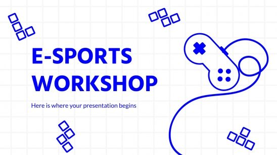 Plantilla de presentación Taller de e-sports