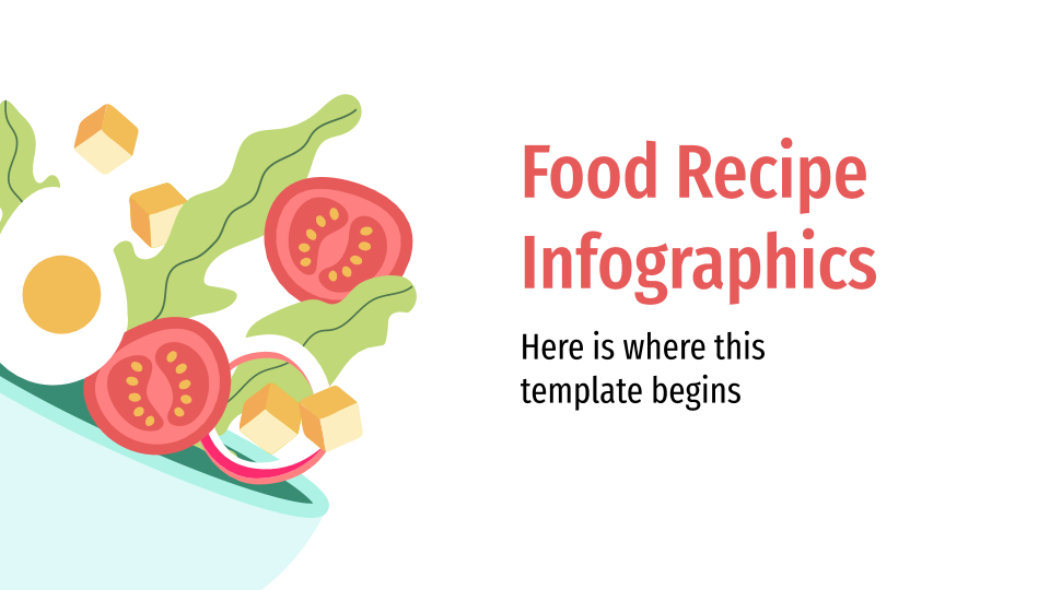 Food Recipe Infographics presentation template