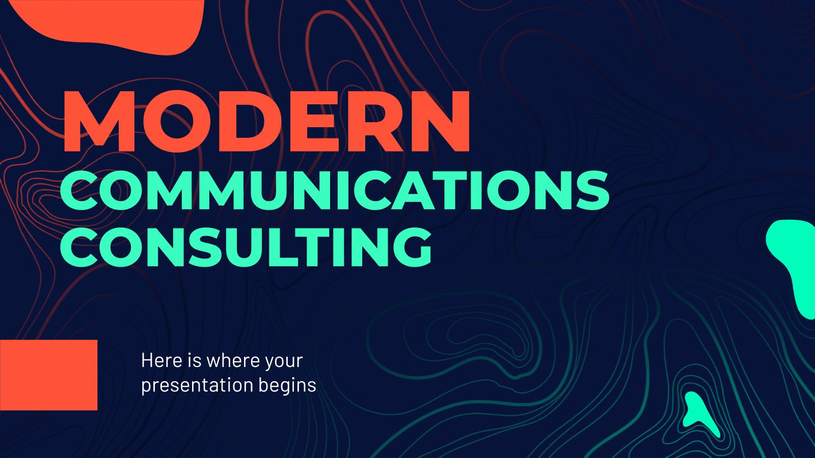 Modelo de apresentação Consultoria de comunicação moderna