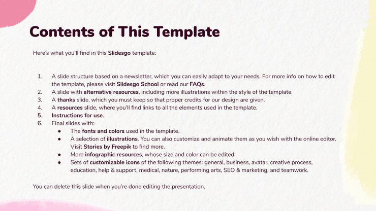 Teacher's Newsletter presentation template
