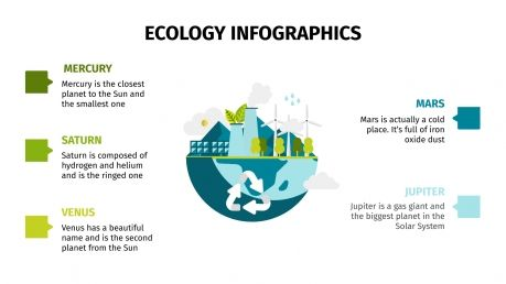 Plantilla de presentación Infografías de ecología