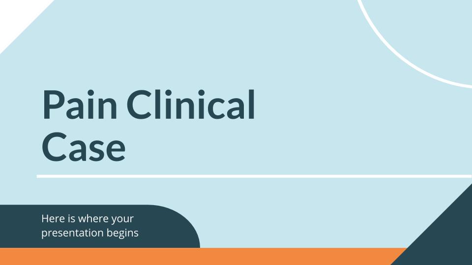 Modelo de apresentação Caso clínico sobre a dor