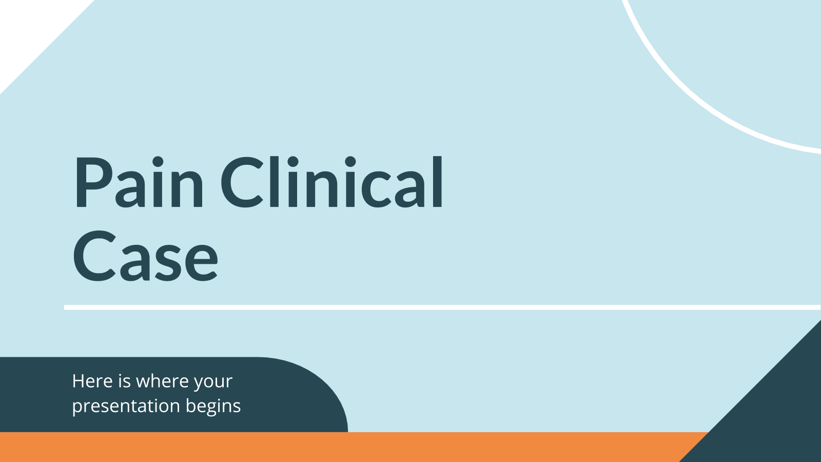Cas clinique douleur : Modèles de présentation