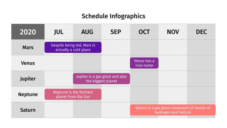 Schedule Infographics presentation template
