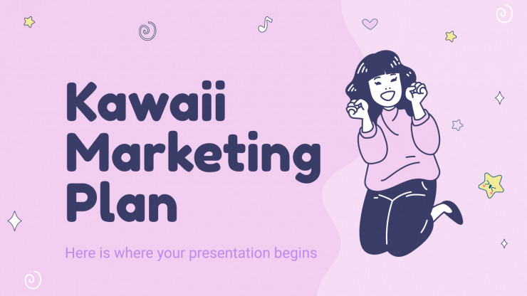 Kawaii Marketing Plan presentation template