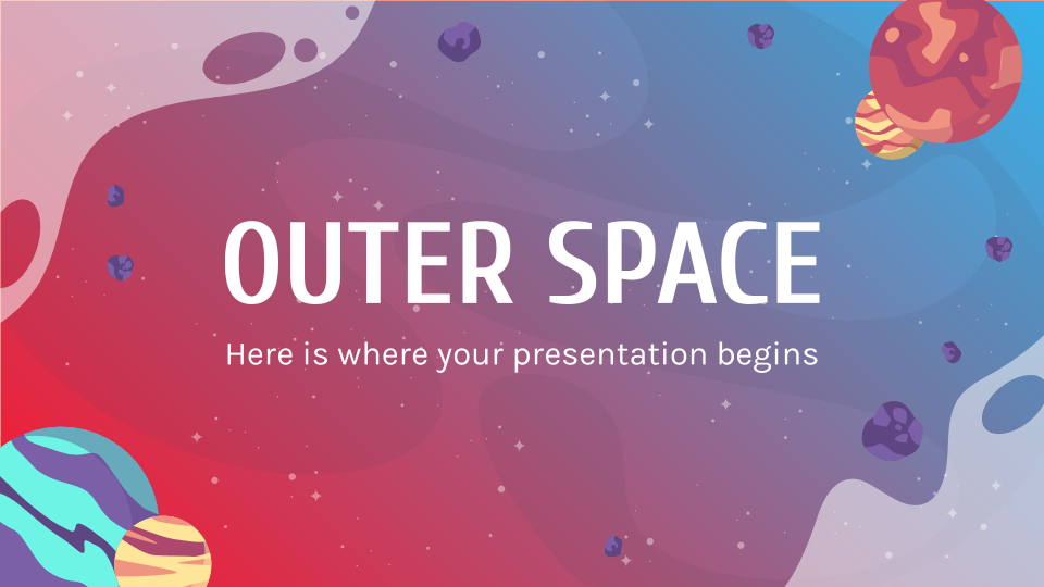 Outer Space presentation template