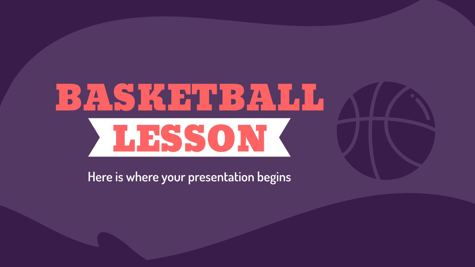 Plantilla de presentación Clase de baloncesto