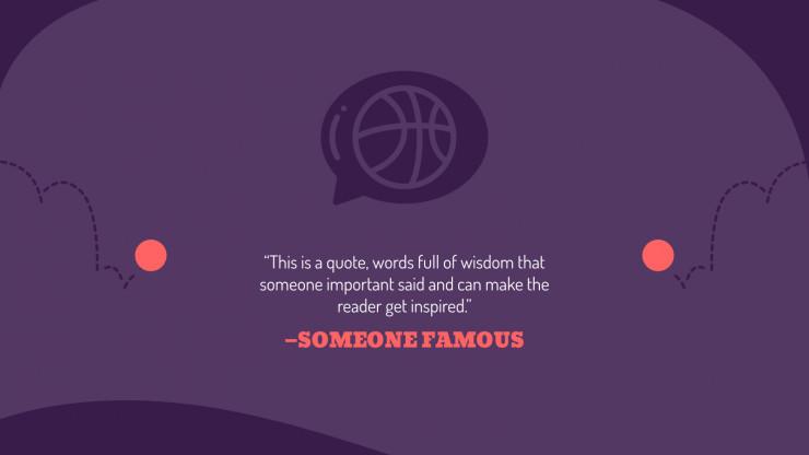 Basketball Lesson presentation template