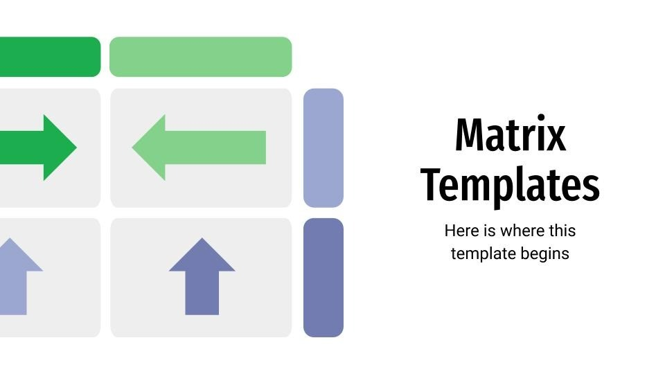 Matrix Templates presentation template