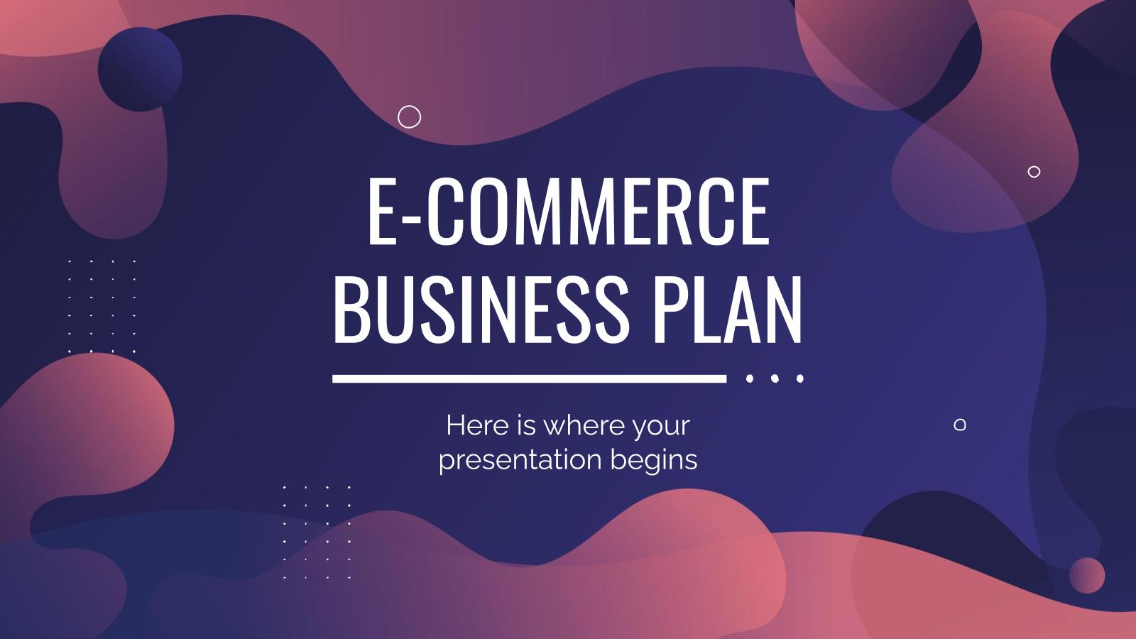 Modelo de apresentação Plano para e-commerce