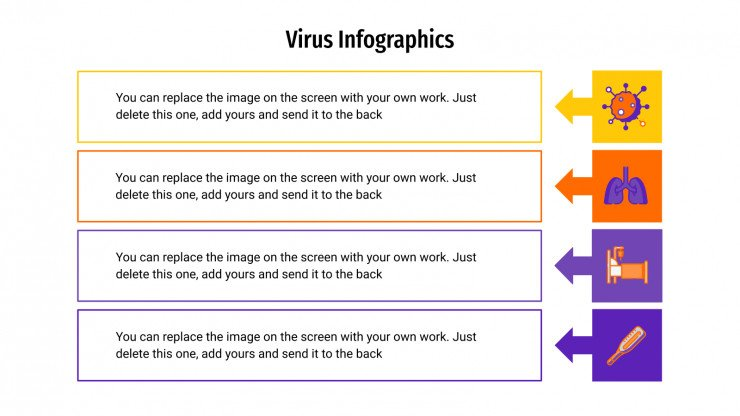 Plantilla de presentación Infografías sobre virus