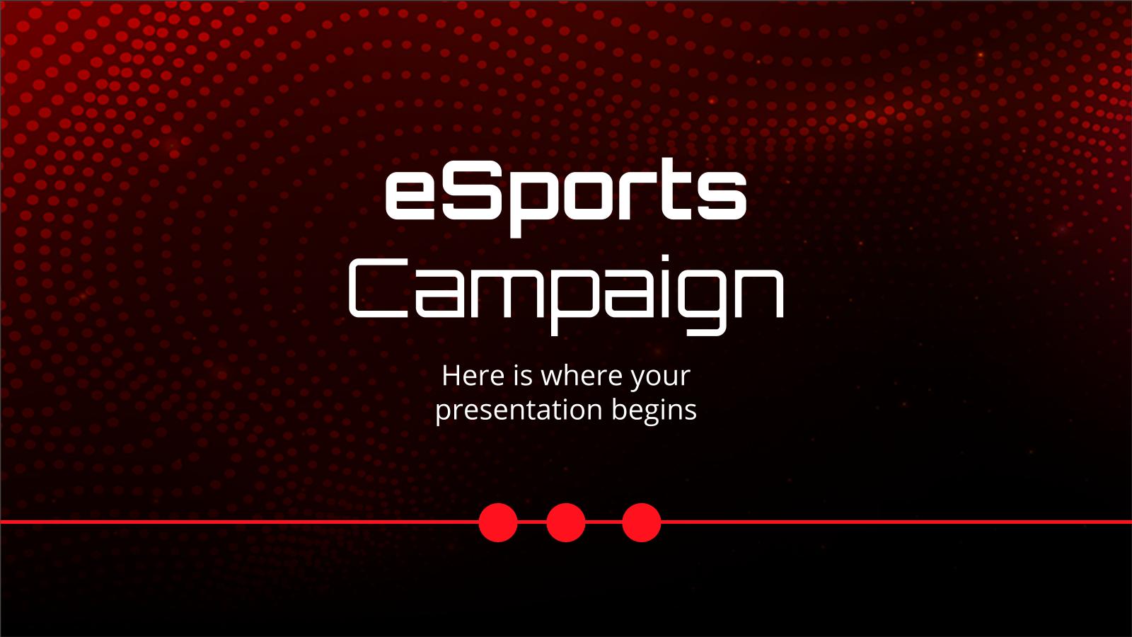 eSports Campaign presentation template