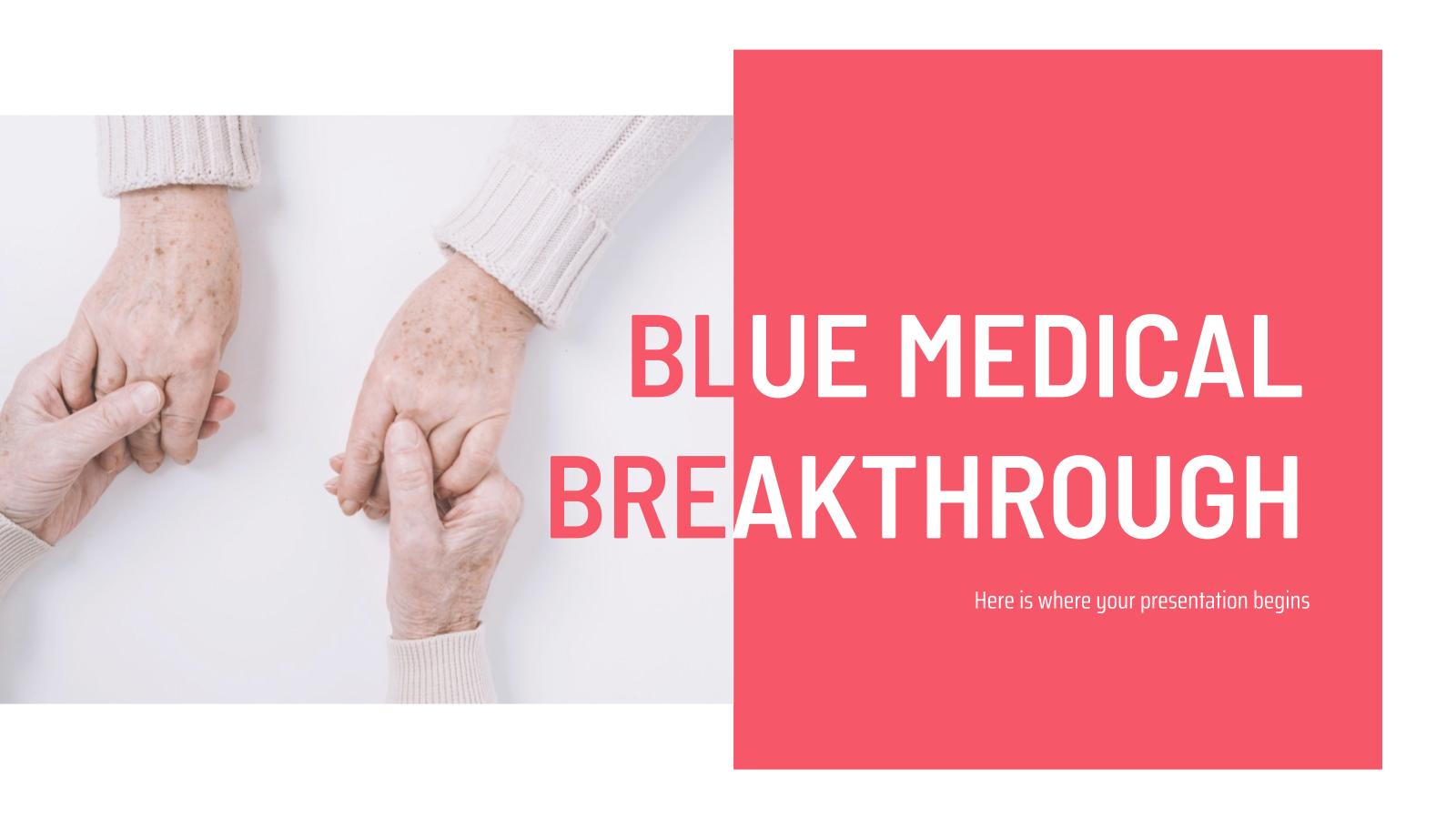 Plantilla de presentación Avances médicos azul