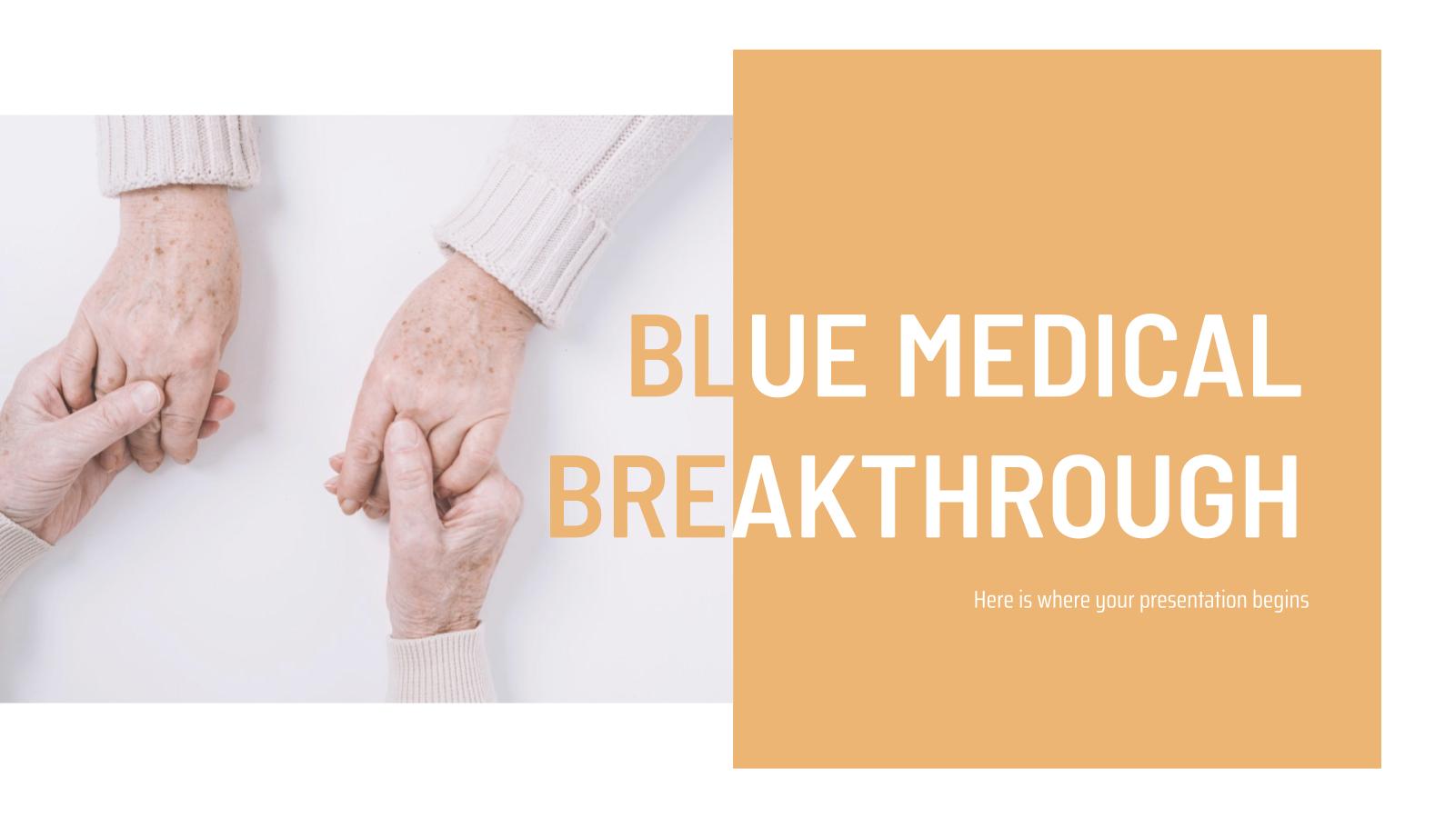 Blue Medical Breakthrough presentation template