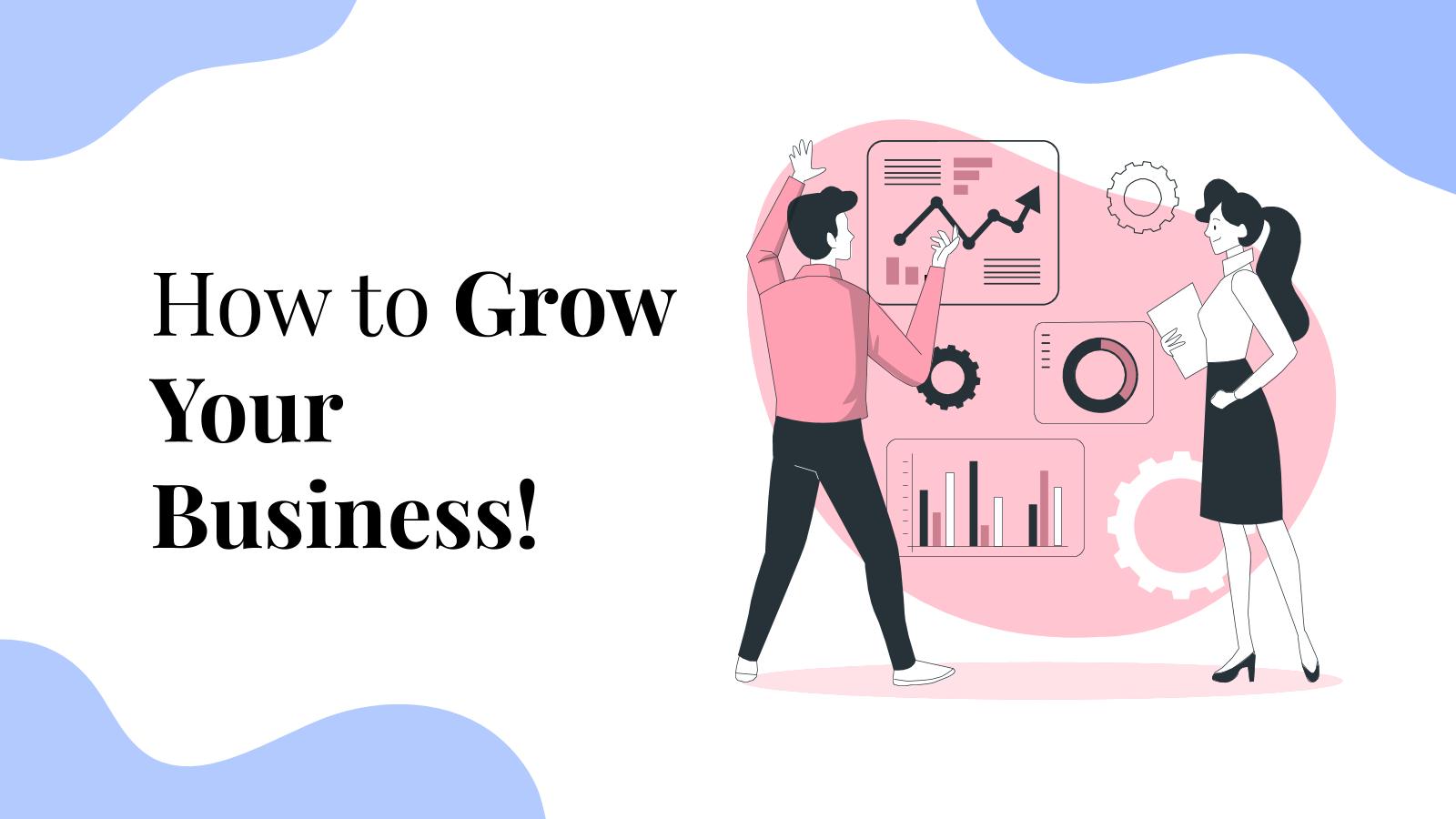 Plantilla de presentación Cómo hacer que tu negocio crezca