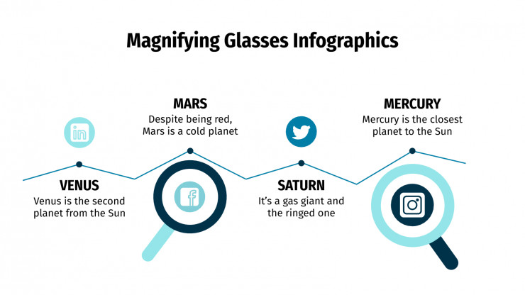 Magnifying Glasses Infographics presentation template
