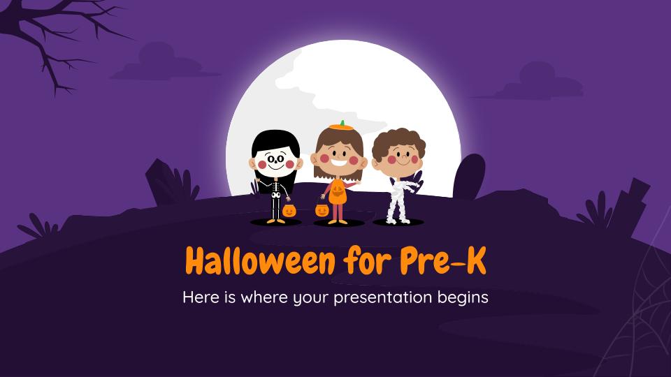 Modelo de apresentação Decorações de Halloween