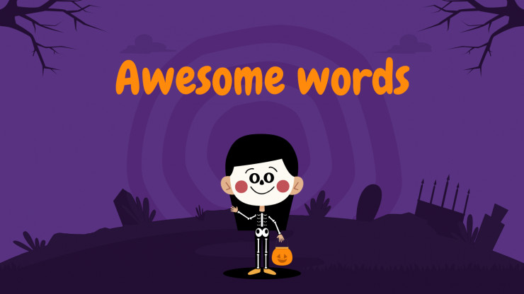 Halloween Decorations for Pre-K presentation template