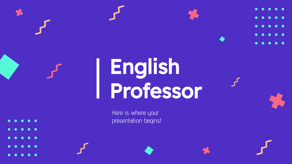 English Professor CV presentation template