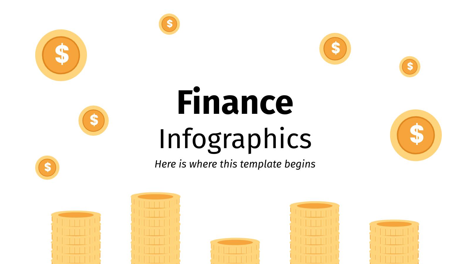 Plantilla de presentación Infografías de finanzas