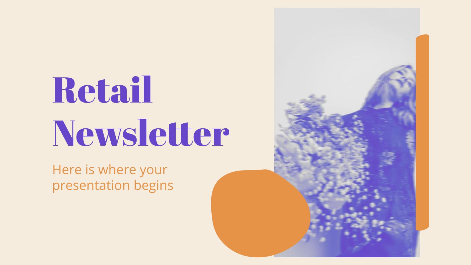 Modelo de apresentação Newsletter de varejo