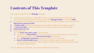 Plantilla de presentación Newsletter de moda