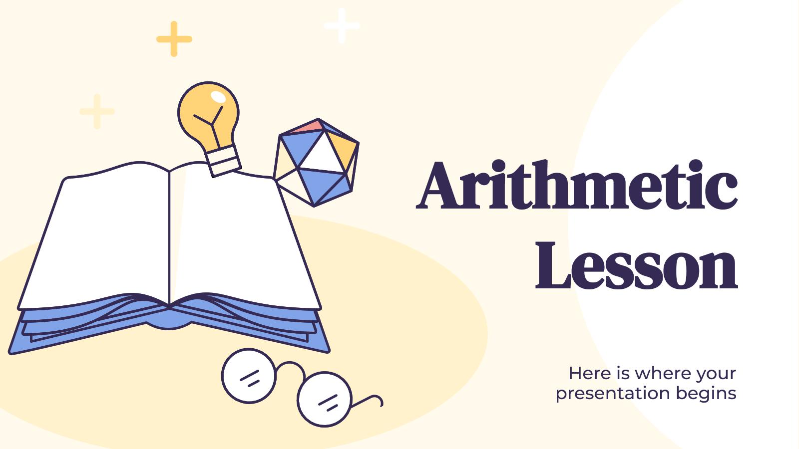 Modelo de apresentação Aula de aritmética