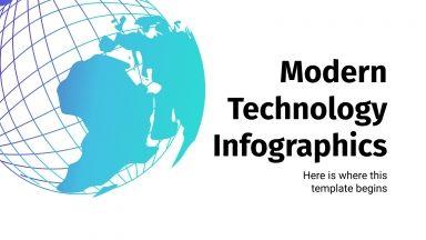 Modelo de apresentação Infográficos modernos de tecnologia
