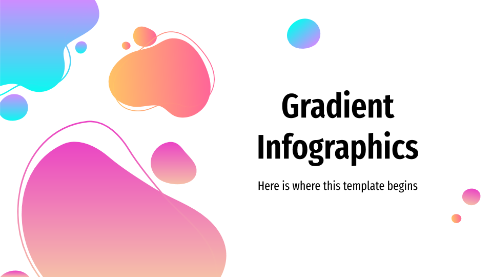 Gradient Infographics presentation template