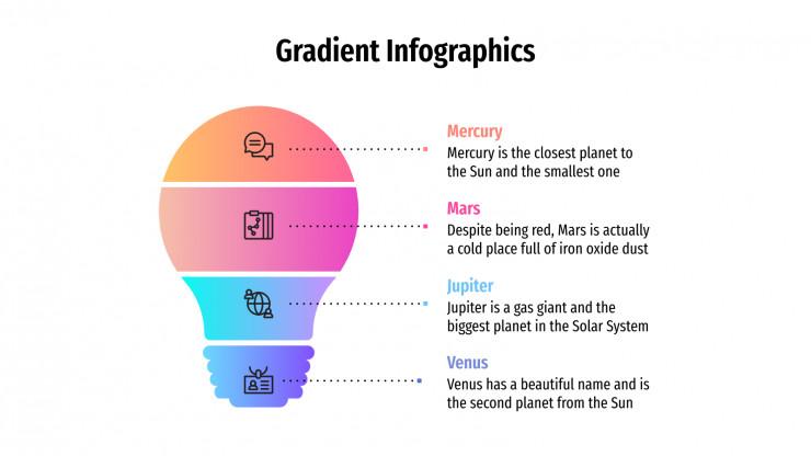 Infographies dégradés : Modèles de présentation