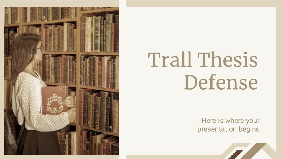 Plantilla de presentación Defensa de tesis Trall