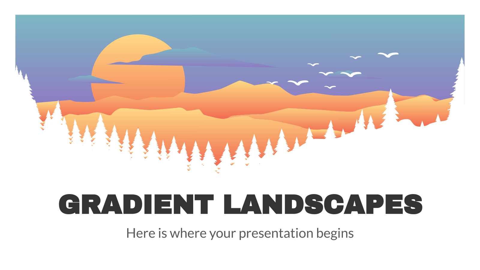 Gradient Landscapes presentation template