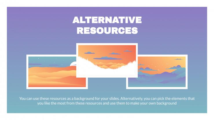 Gradient Landscapes presentation template