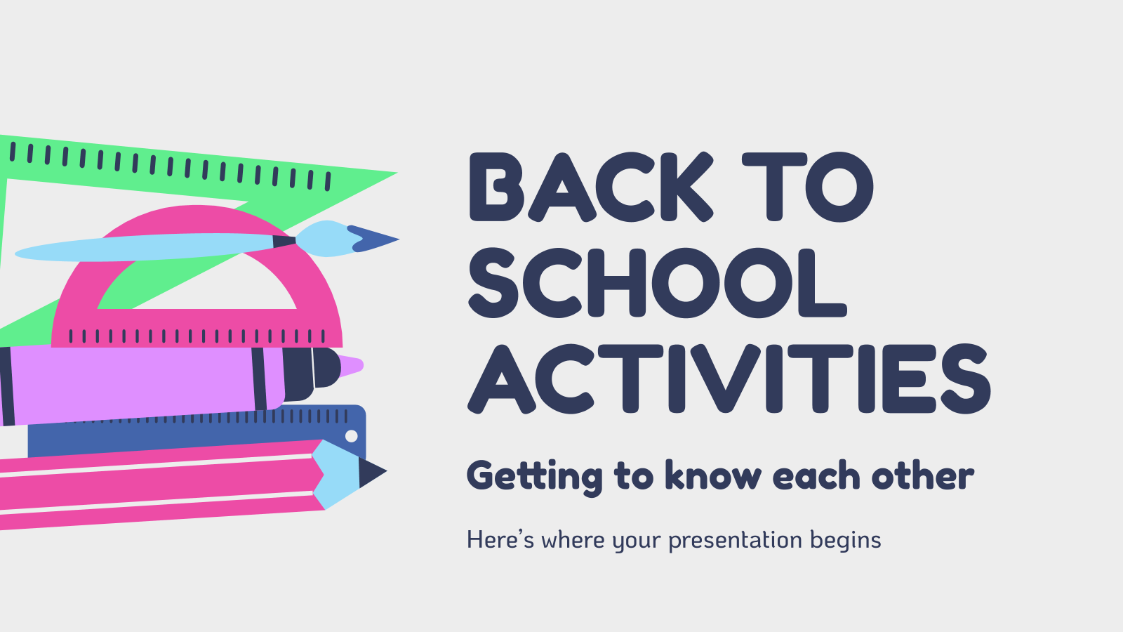 Back to School Activities presentation template
