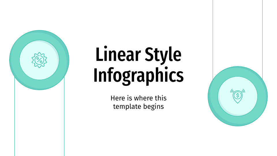 Linear Style Infographics presentation template
