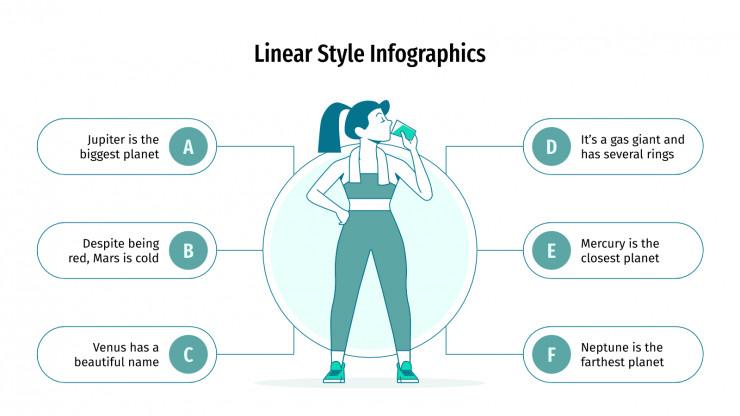 Plantilla de presentación Infografías de estilo lineal