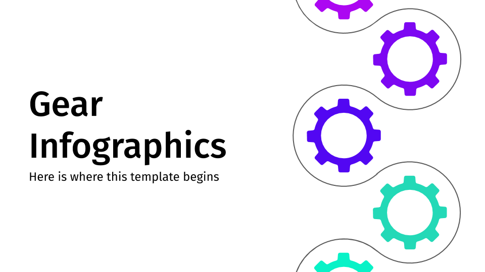 Gear Infographics presentation template