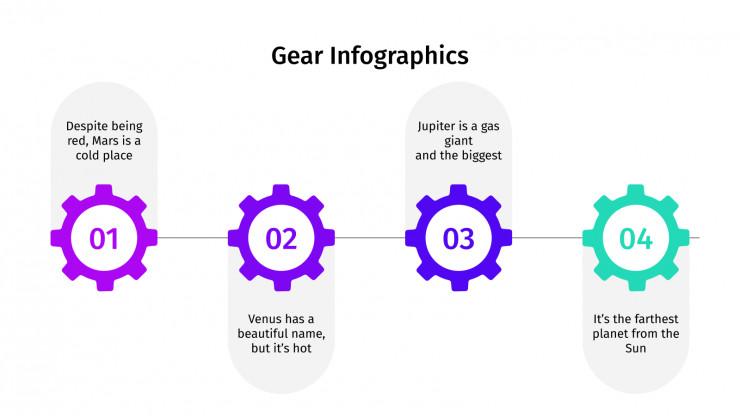 Infographies engrenages : Modèles de présentation